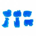 Pack de 6 Eponges Tampons à peindre 25mm - Coloris Bleu - Thème Animaux de La Ferme