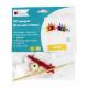 Kit Formes en Feutrine 2mm + Perles en Bois + Chenilles + Batonnets - Lutin à Fabriquer - Coloris Blanc