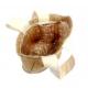 Lot de 10 Sacs en Jute avec PVC enduit à Décorer - 4,5x10x10cm - Coloris naturel
