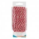 Bobine fil en coton bicolore - 1,1mmx50m - Rouge et Blanc