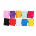 Lot de 10 Bobines fil élastiques colorées - 0,5mmx5m - Assortiment de Couleurs