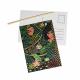 Pack de 10 Cartes Postales à Gratter + 10 bâtonnets en Bois - 10.4x14.8cm - Thème Animaux du Monde