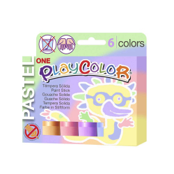 Sticks de peinture gouache solide 10g - PASTEL ONE - 6 couleurs assorties
