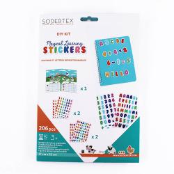 Pack de 206 Stickers Repositionnables Chiffres et Lettres Magical Learning - 17x22cm - Sodertex - L624924