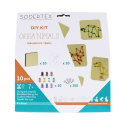 Kit String Art Orig'Animals 10 planches + 300 Epingles + 10 Fils Colorés + Feuilles à Epingler - 10x10cm