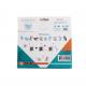 Pack 1500 Aqua Perles 3x3mm + 10 modèles - Thème Animaux - Assortiment de 5 Couleurs