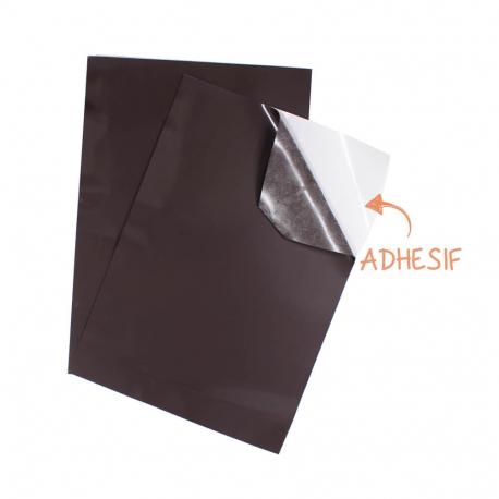 Lot de 2 Coupons Aimantés et Adhésifs Noirs - Format A4