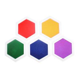 Pack de 5 Encreurs Géants Unicolore en Mousse EVA - Diamètre 16cm - Assortiment de 5 Couleurs