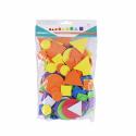 Pack de 200 Formes Géométriques en Mousse EVA Adhésifs - Assortiment de Tailles et de Couleurs