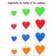 Pack de 200 Coeurs en Mousse EVA Adhésifs - Assortiment de Tailles et de Couleurs