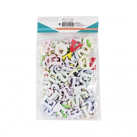 Pack de 130 Lettres en Mousse EVA Adhésives 3cm - Assortiment de 4 Couleurs