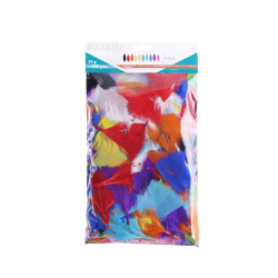 Lot de 300 Plumes de Dinde - 2 tailles - Assortiment de 10 couleurs