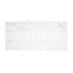 Bannière à Décorer en Polyester - 130x62cm - Coloris Blanc