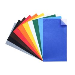 Coupons Feutrine Adhésifs 180G/M2 - 25x45cm - 10 couleurs assorties