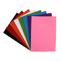 Coupons Feutrine 3mm - 21x30cm - 8 couleurs assorties
