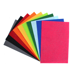 Coupons Feutrine Pailletée 140G/M2 - 20x30cm - 10 couleurs assorties