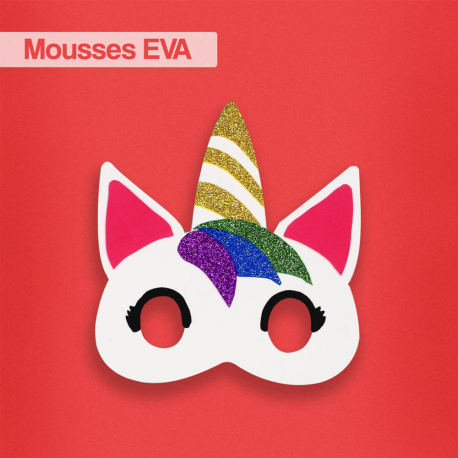 Coupons Mousse EVA - 20x30cm - 10 couleurs assorties