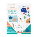 Kit Tableau en Feutrine 3D à Fabriquer - 65x50cm - Thème Histoire d'Ocean
