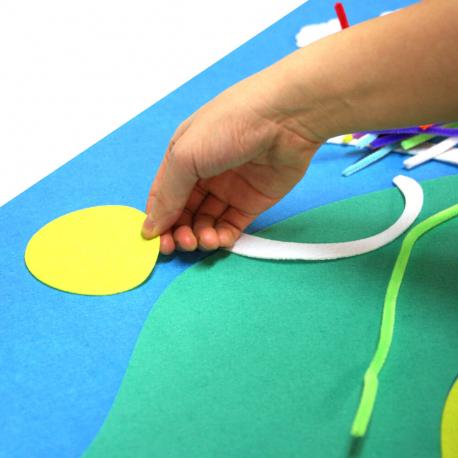 Kit Tableau en Feutrine 3D à Fabriquer - 65x50cm - Thème Joli Carroussel