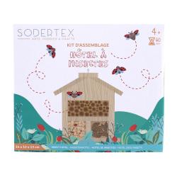 Kit hôtel à insectes + colle + clous - 19 x 13 x 27 cm - 1 pc - 1 coloris