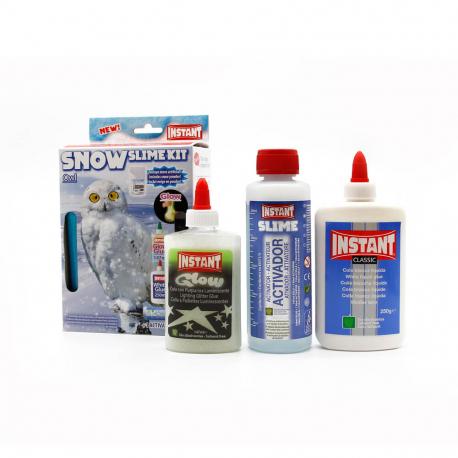 Kit pour fabriquer son SLIME SNOW - Thème HIBOU